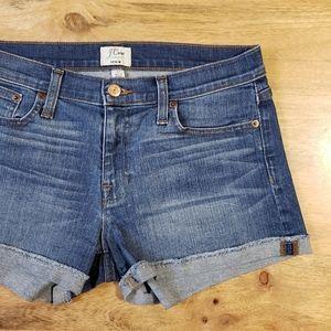 J Crew Medium Wash Denim Jean Shorts Size 27